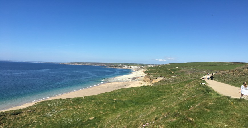 10 Coast path from the Loe Bar